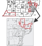Senate Finance Committee's Districts Map